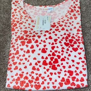 LuLaRoe Morgan, NWT, Large, Red and white